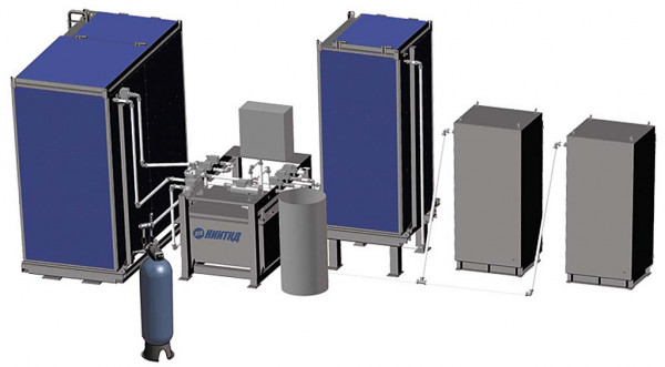 Automated filling complex for diesel water cooling circuit