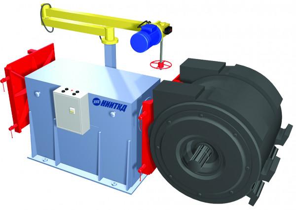 Механизированное рабочее место для разборки и сборки тягового электродвигателя (кантователь)