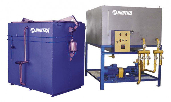 Jet washing machine for housings of axial gearboxes, axle boxes and their parts