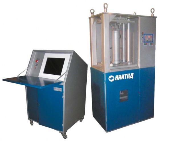 Стенд автомат контроля параметров пружин 1-10тс 02