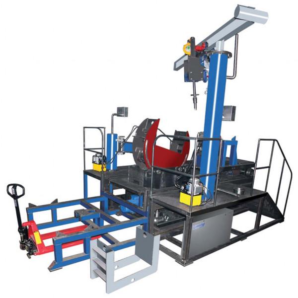 System der Montage und Demontage einer Radmotoreinheit