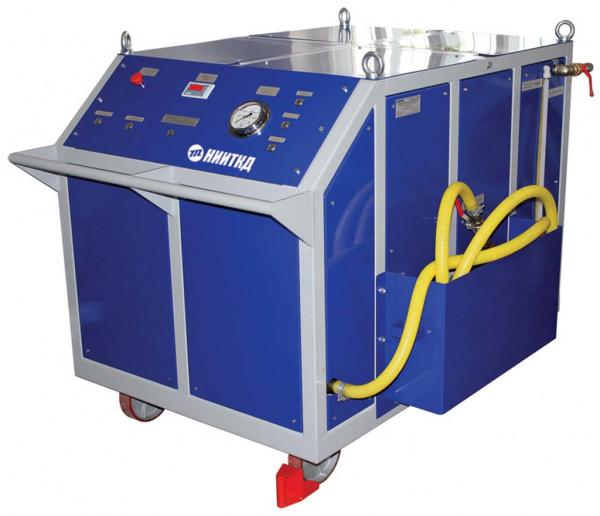 Installation zur Druckprüfung eines Dieselmotors mit Wasser