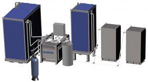 Автоматизированнй заправочный комплекс контура охлаждения дизеля водой