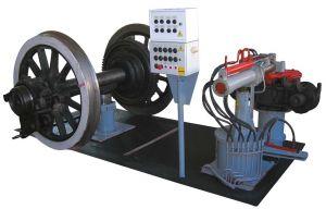 Position zum Ausbau der Buchsen von Lok-Radsätzen (Achslagerabzieheinrichtung)