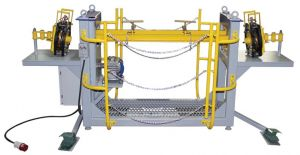 Workplace for brake beam welding