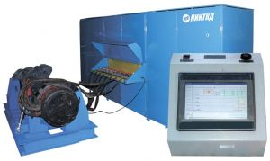 DC traction electric motor testing station