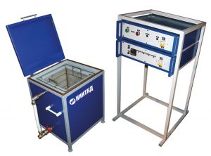 Washing unit for the brake devices and fixtures