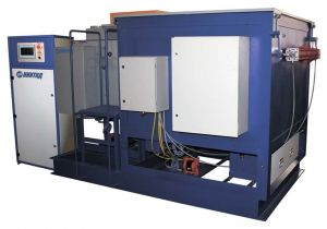 Ultraschallanlage für Waschen und Durchtränkung der Triebmotorgerippe ohne Polwicklungsabbau