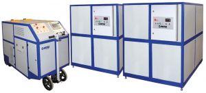 Betankungsanlage für die Buchsen von TL (Tatzenlager), RG (Radgehäusen), der Seitenstützen des Kastens und Kugelverbindungen der Maschinendrehgestelle